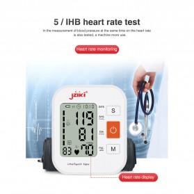 JZIKI Pengukur Tekanan Darah Electronic Sphygmomanometer with Voice - ZK-B877 - Black - 9