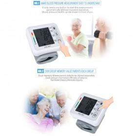 JZIKI Pengukur Tekanan Darah Electronic Sphygmomanometer- KWL-W01 - White - 8