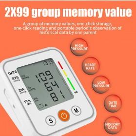 JZIKI Pengukur Tekanan Darah Electronic Sphygmomanometer- KWL-B01 - White - 11