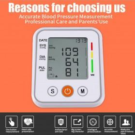 JZIKI Pengukur Tekanan Darah Electronic Sphygmomanometer- KWL-B01 - White - 3