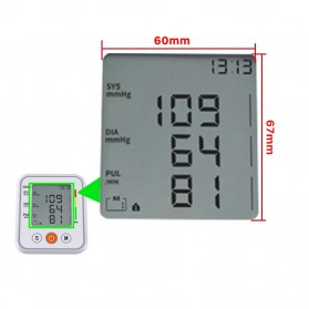 JZIKI Pengukur Tekanan Darah Electronic Sphygmomanometer- KWL-B01 - White - 8