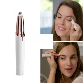 Oumonoka Alat Pencukur Alis Electric Eyebrow Trimmer Makeup Portable - F007 - White