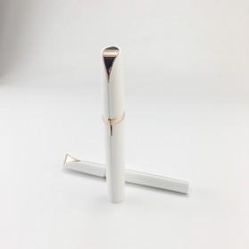 Oumonoka Alat Pencukur Alis Electric Eyebrow Trimmer Make Up Portable - F007 - White - 3
