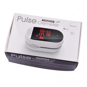 IMDK Alat Pengukur Detak Jantung Kadar Oksigen Fingertip Pulse Oximeter - C101B1 - Black - 10