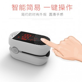 IMDK Alat Pengukur Detak Jantung Kadar Oksigen Fingertip Pulse Oximeter - C101B1 - White - 9