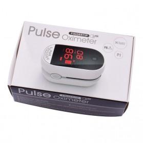 IMDK Alat Pengukur Detak Jantung Kadar Oksigen Fingertip Pulse Oximeter - C101B1 - White - 11