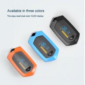 BOXYM Alat Pengukur Detak Jantung Kadar Oksigen Fingertip Pulse Oximeter USB Rechargeable - BX-81 - Black - 2