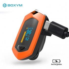BOXYM Alat Pengukur Detak Jantung Kadar Oksigen Fingertip Pulse Oximeter USB Rechargeable - BX-81 - Black - 3