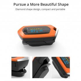 BOXYM Alat Pengukur Detak Jantung Kadar Oksigen Fingertip Pulse Oximeter USB Rechargeable - BX-81 - Black - 7