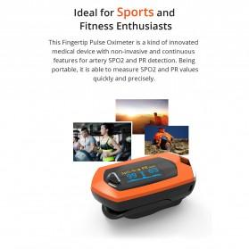 BOXYM Alat Pengukur Detak Jantung Kadar Oksigen Fingertip Pulse Oximeter USB Rechargeable - BX-81 - Black - 8