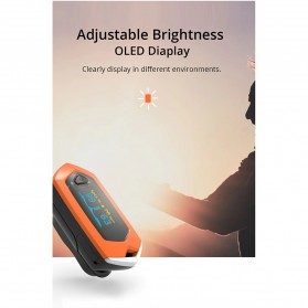 BOXYM Alat Pengukur Detak Jantung Kadar Oksigen Fingertip Pulse Oximeter USB Rechargeable - BX-81 - Black - 9