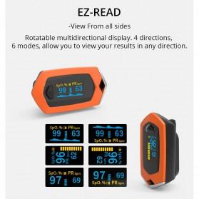 BOXYM Alat Pengukur Detak Jantung Kadar Oksigen Fingertip Pulse Oximeter USB Rechargeable - BX-81 - Black - 11