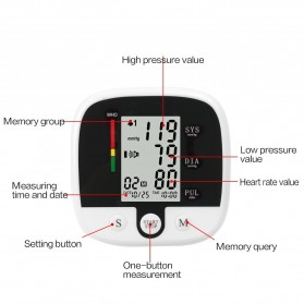 SUOLAER Pengukur Tekanan Darah Electronic Blood Pressure Monitor - CK-A159 - Black - 4