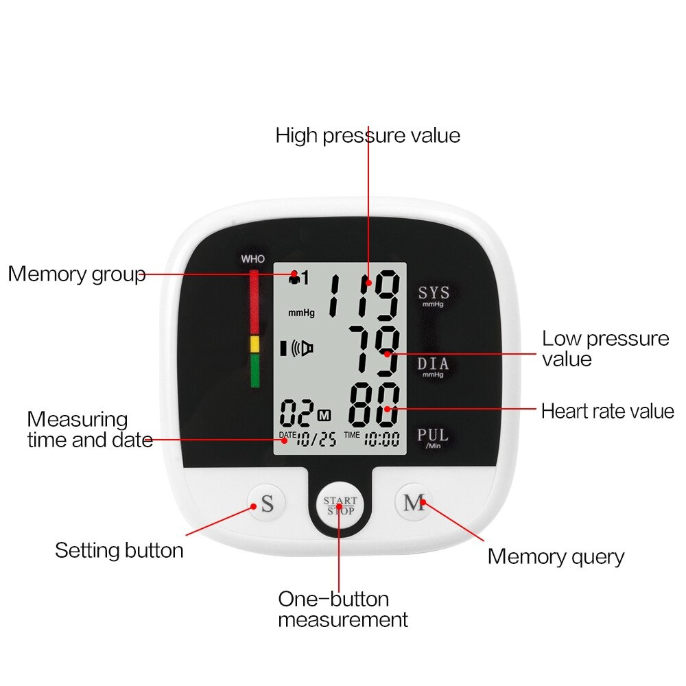 SUOLAER Pengukur Tekanan Darah Electronic Blood Pressure Monitor - CK-A159  - Black - JakartaNotebook.com