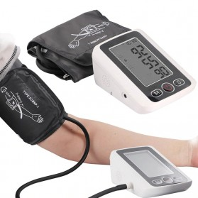 RAINOPO Pengukur Tekanan Darah Tensi Meter Electronic Blood Pressure - X180 - Black