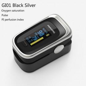 JZIKI Alat Pengukur Detak Jantung Kadar Oksigen Fingertip Pulse Oximeter Sleep Monitor - YSS-G102 - Black