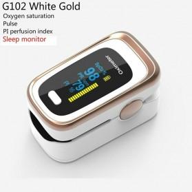 JZIKI Alat Pengukur Detak Jantung Kadar Oksigen Fingertip Pulse Oximeter Sleep Monitor - YSS-G102 - Golden - 1