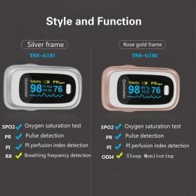 JZIKI Alat Pengukur Detak Jantung Kadar Oksigen Fingertip Pulse Oximeter Sleep Monitor - YSS-G102 - Golden - 2