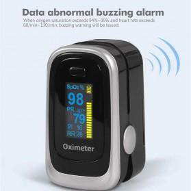 JZIKI Alat Pengukur Detak Jantung Kadar Oksigen Fingertip Pulse Oximeter Sleep Monitor - YSS-G102 - Golden - 4