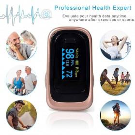JZIKI Alat Pengukur Detak Jantung Kadar Oksigen Fingertip Pulse Oximeter Sleep Monitor - YSS-G102 - Golden - 5