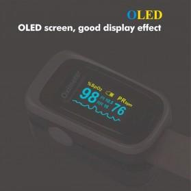 JZIKI Alat Pengukur Detak Jantung Kadar Oksigen Fingertip Pulse Oximeter Sleep Monitor - YSS-G102 - Golden - 7