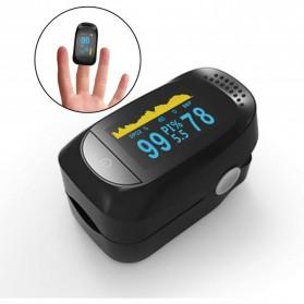 Jumper Alat Pengukur Detak Jantung Kadar Oksigen Fingertip Pulse Oximeter - C101A2 - Black