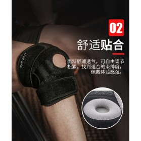 WANSHI Pelindung Lutut Olahraga Knee Pad Support Brace Fitness Gym 2 PCS - A-7910 - Black