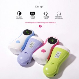 Yongrow Alat Deteksi Jantung Janin Bayi Fetal Doppler Heartrate Monitor - YK-90C - Blue - 3