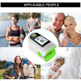 ACEHE Fingertip Pulse Oximeter Alat Pengukur Detak Jantung Kadar Oksigen - CK-X1805 - Black - 6