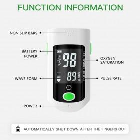 ACEHE Fingertip Pulse Oximeter Alat Pengukur Detak Jantung Kadar Oksigen - CK-X1805 - Black - 7
