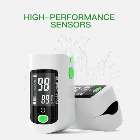 ACEHE Fingertip Pulse Oximeter Alat Pengukur Detak Jantung Kadar Oksigen - CK-X1805 - Black - 8