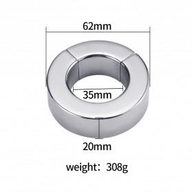 MaYaMang Ring Magnetik Penahan Ejakulasi Dini Pria Stainless Steel - Silver - 2