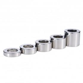 MaYaMang Ring Magnetik Penahan Ejakulasi Dini Pria Stainless Steel - Silver - 3