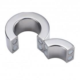 MaYaMang Ring Magnetik Penahan Ejakulasi Dini Pria Stainless Steel - Silver - 4