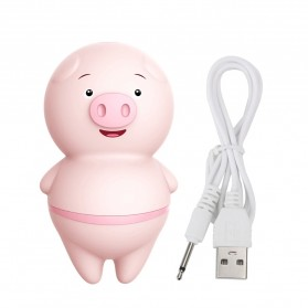 LILO IKOKY Vibrator Cute Pig Tongue Lick Vibrators Alat Pijat Elektrik Multifungsi - HL-1907 - Pink - 2
