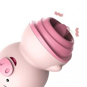LILO IKOKY Vibrator Cute Pig Tongue Lick Vibrators Alat Pijat Elektrik Multifungsi - HL-1907 - Pink - 4