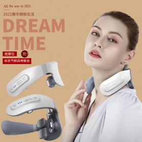 SUOLAER Alat Pijat Elektrik Terapi Leher Punggung Rechargeable JT-008 - White
