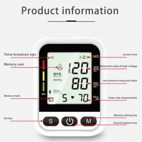 OLOEY Pengukur Tekanan Darah Blood Pressure Monitor Silent - ARM-2 - Black - 5