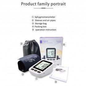 OLOEY Pengukur Tekanan Darah Blood Pressure Monitor Silent - ARM-2 - Black - 7