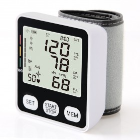 JZIKI Pengukur Tekanan Darah Electronic Sphygmomanometer with Voice - KWL-W02 - Black