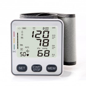 JZIKI Pengukur Tekanan Darah Electronic Sphygmomanometer with Voice - KWL-W02 - Black - 2