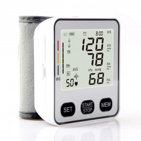 JZIKI Pengukur Tekanan Darah Electronic Sphygmomanometer with Voice - KWL-W02 - Black - 3