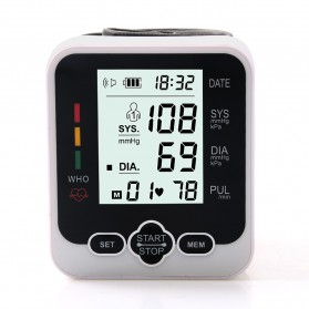 JZIKI Pengukur Tekanan Darah Electronic Sphygmomanometer with Voice - KWL-W03 - Black