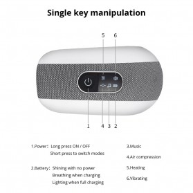 KLASVSA Alat Kompres Pijat Refleksi Mata Electric Smart Eye Massager Bluetooth Version - SX323 - Gray - 11