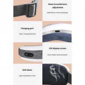KLASVSA Alat Kompres Pijat Refleksi Mata Electric Smart Eye Massager Bluetooth Version - SX323 - Gray - 12