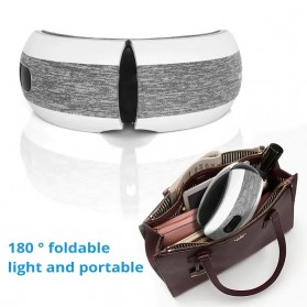 KLASVSA Alat Kompres Pijat Refleksi Mata Electric Smart Eye Massager Bluetooth Version - SX323 - Gray - 6