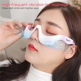 CkeyiN Alat Pijat Kompres Mata Elektrik Eye Bag Massage USB Rechargeable - AM242 - White