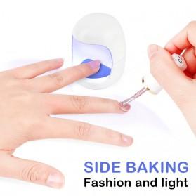XIXI Pengering Kutek Kuku Mini UV LED Nail Dryer Egg Shape 3W - 90427 - White
