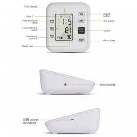 URIT Pengukur Tekanan Darah Tensimeter Blood Pressure Monitor - LZX-B1681 - White - 2