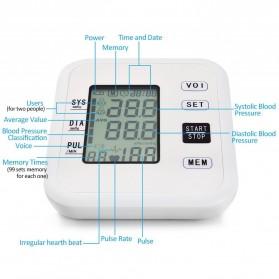 URIT Pengukur Tekanan Darah Tensimeter Blood Pressure Monitor - LZX-B1681 - White - 3